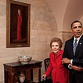 President Obama And Former First Lady by Everett