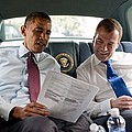 President Obama And Russian President by Everett