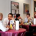 President Obama And Vp Joe Biden Wait by Everett