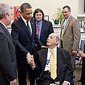 President Obama Greets James Brady by Everett