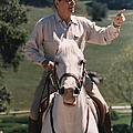 President Reagan Riding His Horse El by Everett