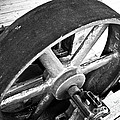 Pulley Wheel from Industrial Sawmill Print by Paul Velgos