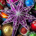 Purple Christmas Star by Garry Gay