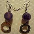 Purple Doodle Drop Earrings by Jenna Green