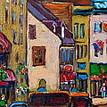 QUEBEC CITY STREET SCENE  CALECHE RIDE Print by CAROLE SPANDAU
