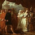 Queen Philippa Interceding for the Lives of the Burghers of Calais Print by Benjamin West