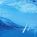 Racing Sailboats 6 by Danita Cole