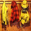 Rain Gear and Red Plaid Jacket Print by Susan Savad