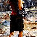 Rainy Day - Woman Of New York 04 by Emerico Imre Toth