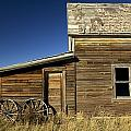 Ranchers House In Prairie Semi-ghost Print by Pete Ryan