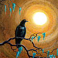 Raven In Dark Autumn by Laura Iverson
