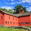 Red Barn At Bryant Homestead by John Burk