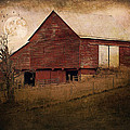 Red Barn In The Evening by Kathy Jennings