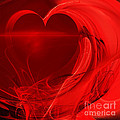 Red Love . Square . A120423.279 by Wingsdomain Art and Photography