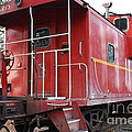 Red Sante Fe Caboose Train . 7d10330 by Wingsdomain Art and Photography