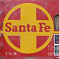 Red Sante Fe Caboose Train . 7d10333 by Wingsdomain Art and Photography
