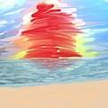 Red Sun Setting by Heidi Smith