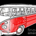Red Volkswagen by Cheryl Young