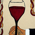 Red Wine Glass by Cynthia Amaral