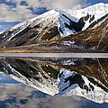 Reflection In Lake Pearson, Castle Hill by Colin Monteath