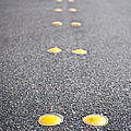 Reflective Roadway Divider Bumps Print by Thom Gourley/Flatbread Images, LLC