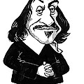 Rene Descartes, Caricature by Gary Brown