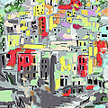 Riomaggiore Italy Moucasso Painting by Ginette Callaway