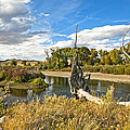 River At Hudson Wy. by James Steele