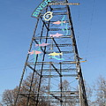 River Walk Tower Sign In West Sacramento California . 7d11400 by Wingsdomain Art and Photography