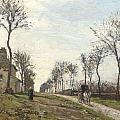Road In Louveciennes by Camille Pissarro