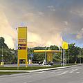 Roadside Gas Station by Jaak Nilson