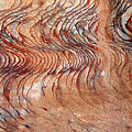 Rock Formation At Petra Jordan by Eva Kaufman