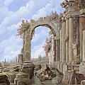 Roman ruins Print by Guido Borelli