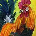 Rooster Kary Print by Summer Celeste
