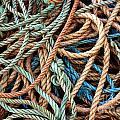 Rope Background Print by Carlos Caetano