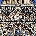 Rose Window - Exterior Of St Vitus Cathedral Prague Castle by Christine Till