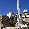 Rostra. Column Of Phocas And Septimius Severus Arch In The Roman Forum. Rome by Bernard Jaubert