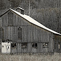 Rustic Weathered Mountainside Cupola Barn Print by John Stephens