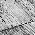 Rusting Repaired Corrugated Iron Roof Sheeting In Edinburgh by Joe Fox