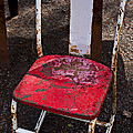 Rusty Metal Chair by Garry Gay