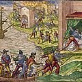 Sack Of Cartagena, C1544 by Granger