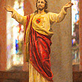 Sacred Heart of Jesus Print by Clarence Holmes