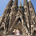 Sagrada Familia Church - Barcelona Spain by Matthias Hauser