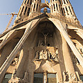 Sagrada Familia church in Barcelona Antoni Gaudi Print by Matthias Hauser