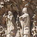 Sagrada Familia Nativity Facade Detail by Matthias Hauser