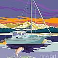 Sailboat Retro by Aloysius Patrimonio