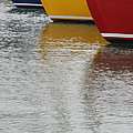 Sailboats In Primary Colors by Julie Bostian