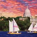 Sailing in Madison Print by Anthony Caruso