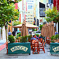 San Francisco - Maiden Lane - Outdoor Lunch At Mocca Cafe - 5d17932 - Painterly by Wingsdomain Art and Photography