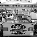 San Francisco - Stanley's Steamers Hot Dog Stand - 5d17929 - Black And White by Wingsdomain Art and Photography